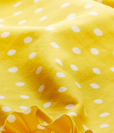 Maillot de bain bébé fille à pois orange Fusion / blanc Marshmallow