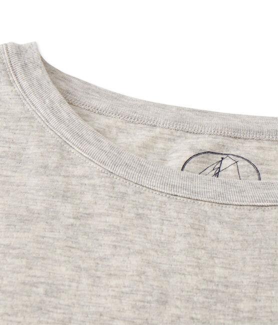 Maxi t-shirt femme en tubique extrafin chiné gris Beluga Chine