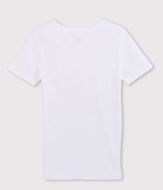 T-shirt manches courtes col V Homme blanc Ecume