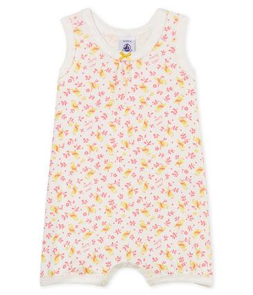 Combicourt bébé fille en côte blanc Marshmallow / blanc Multico