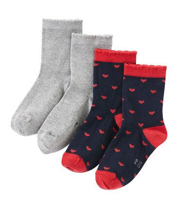 Lot de 2 paires de chaussettes colorées et à motif lot .