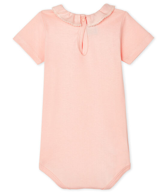 Body bébé fille à collerette rose Minois