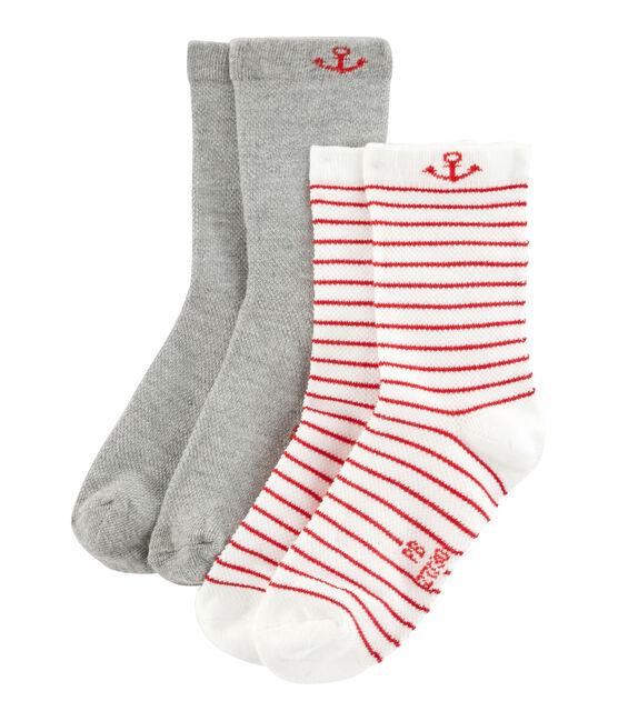 Lot de 2 paires de chaussettes enfant garçon lot .