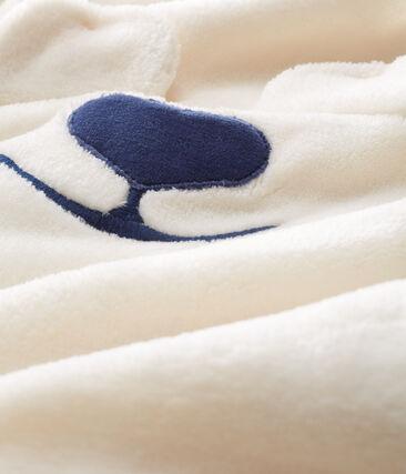 Surpyjama bébé en polaire blanc Marshmallow