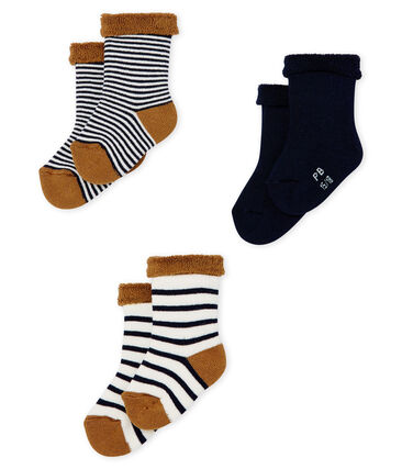 Lot de trois paires de chaussettes bébé en éponge lot .
