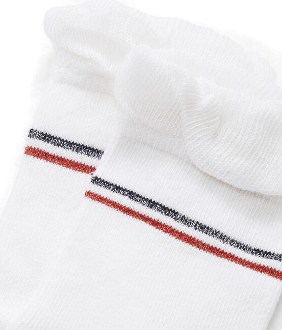 Chaussettes enfant fille blanc Marshmallow