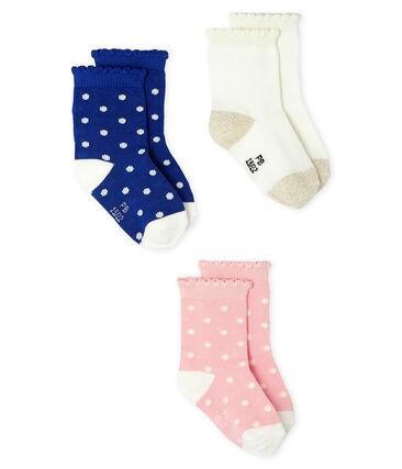 Lot de 3 paires de chaussettes bébé fille