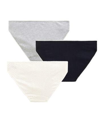 Trio de culottes petite fille en coton stretch