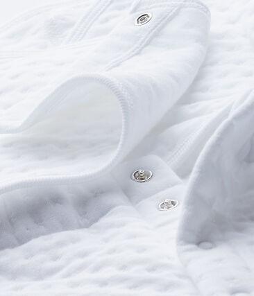 Dors-bien bébé mixte en tubique matelassé blanc Ecume