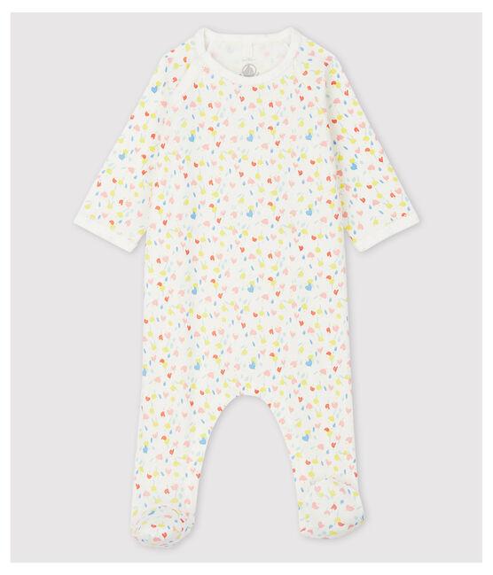 Dors-bien fleuri bébé en coton biologique blanc Marshmallow / blanc Multico