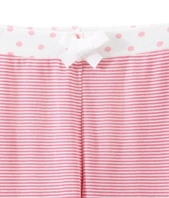 Pantalon de pyjama petite fille rose Cheek / blanc Marshmallow