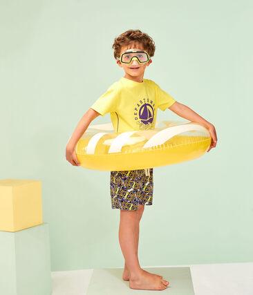 Tee-shirt enfant garcon jaune Sunny