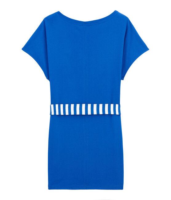 Robe de plage femme bleu Perse