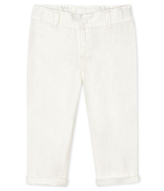 Pantalon en lin bébé garçon blanc Marshmallow