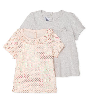 Lot de 2 tee-shirts bébé fille lot .