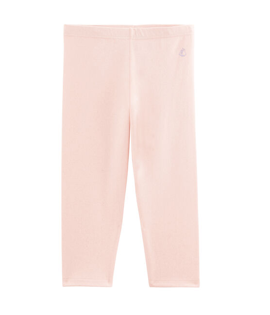 Legging court enfant fille rose Minois / jaune Or