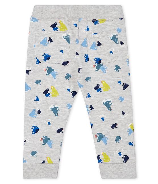 Pantalon bébé garçon imprimé gris Beluga / blanc Multico