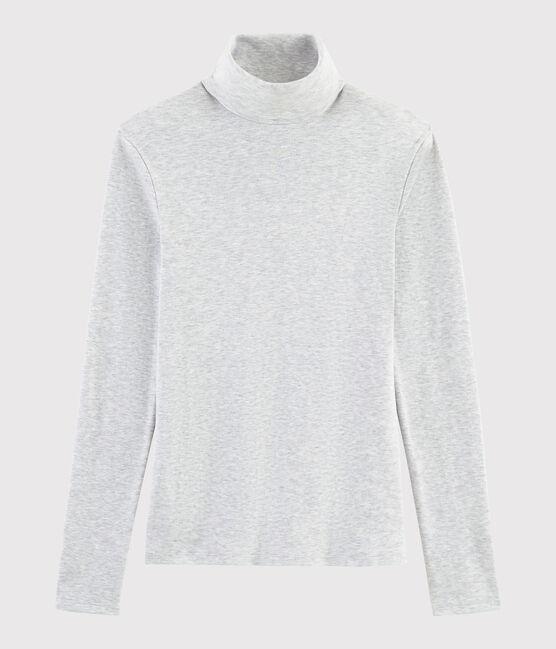 Sous-pull iconique en coton Femme gris Beluga