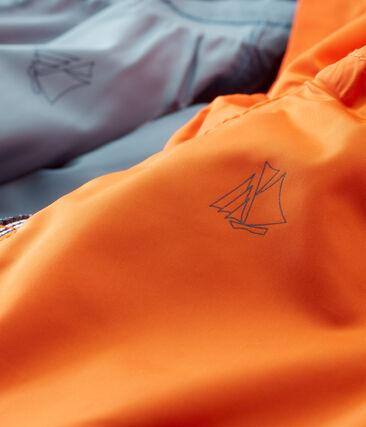 Coupe-vent reversible bébé garçon orange Carotte / bleu Fontaine