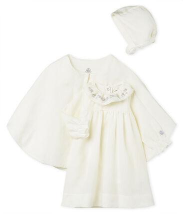 Ensemble 3 pièces de cérémonie bébé fille en lin