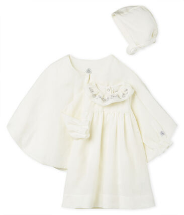 efff6db959030 Ensemble 3 pièces de cérémonie bébé fille en lin
