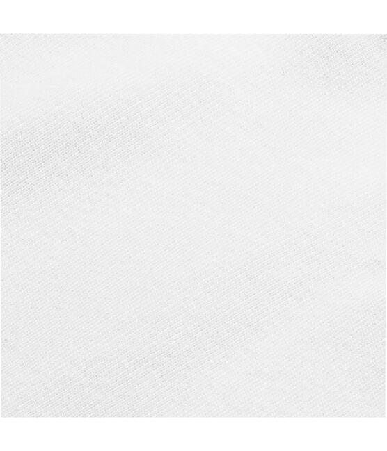 Body US bébé manches courtes en coton uni blanc Ecume