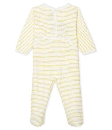 Dors bien bébé garçon en côte blanc Marshmallow / jaune Shine