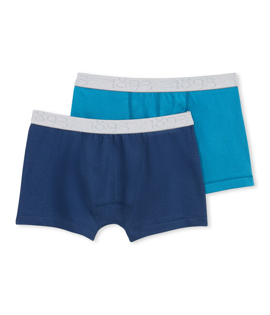 Lot de 2 boxers garçon en jersey stretch lot .