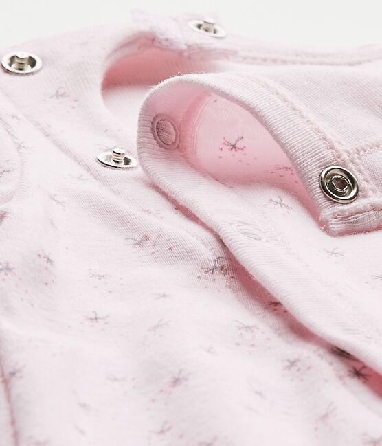 Combisac bébé fille 2 en 1 rose Vienne / blanc Multico