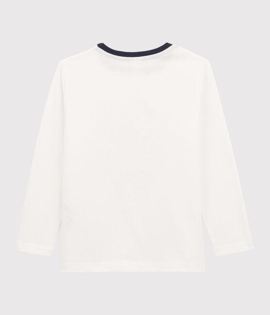 Tee-shirt sérigraphié enfant garçon blanc Marshmallow