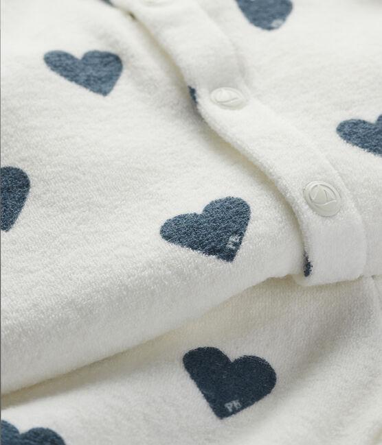 Ensemble jogging et sweatshirt blanc Marshmallow / bleu Astro