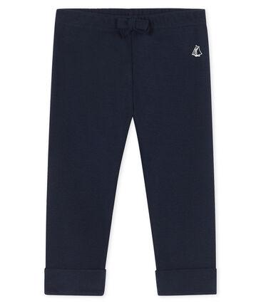 Pantalon bébé fille -garçon en maille bleu Smoking