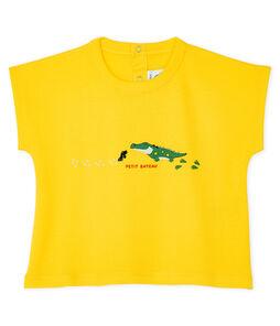Tee-shirt manches courtes bébé garçon jaune Shine