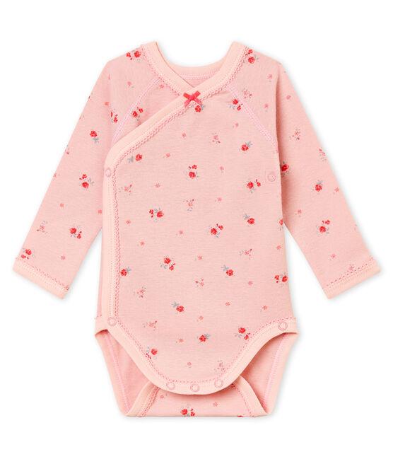 Body naissance manches longues bébé fille rose Joli / blanc Multico