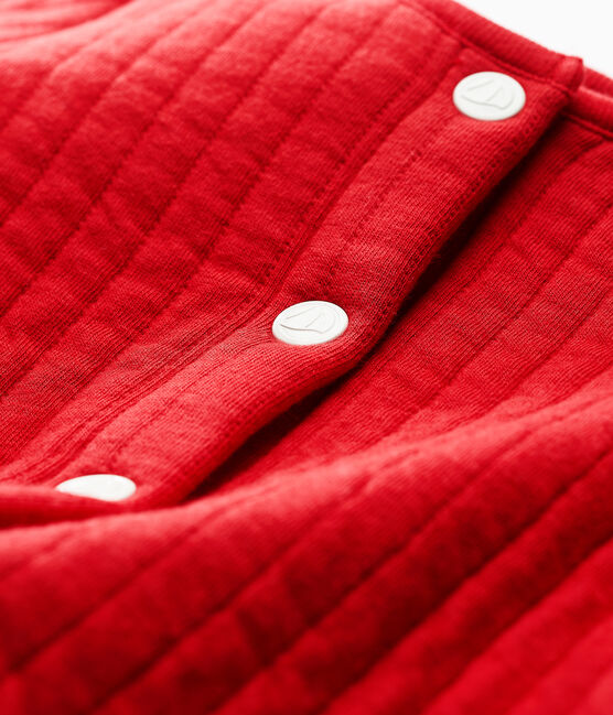 Cardigan en tubique matelassé bébé fille rouge Terkuit