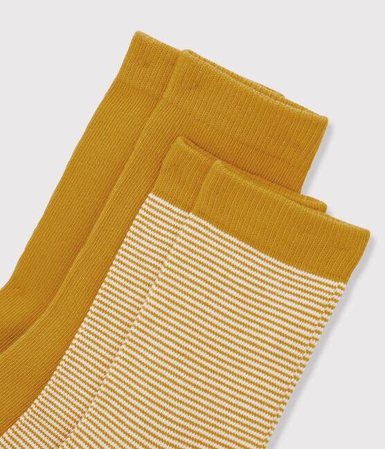 Lot de paires de chausettes garçon jaune Boudor
