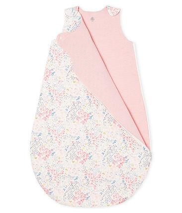 Gigoteuse réversible bébé fille en côte blanc Marshmallow / blanc Multico
