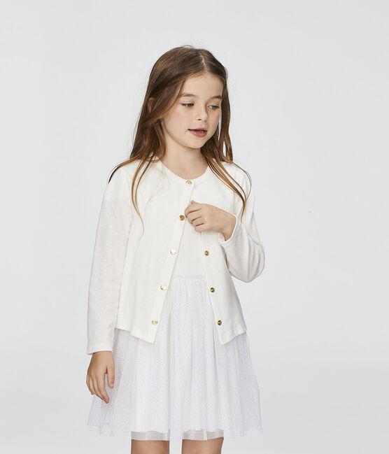 Cardigan enfant fille blanc Marshmallow