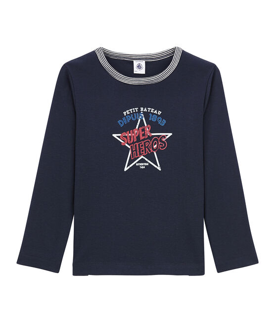 tee-shirt manches longues petit garçon bleu Smoking