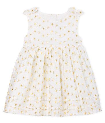 Robe de cérémonie bébé fille blanc Ecume