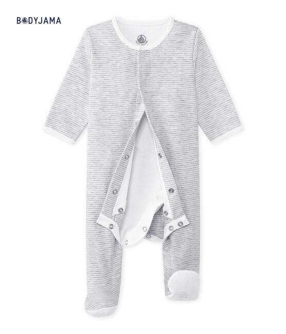 Bodyjama Bébé mixte gris Beluga / blanc Ecume