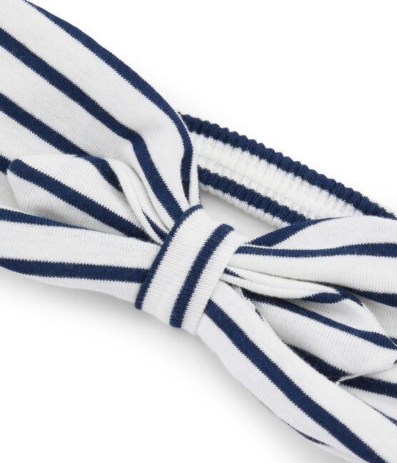 Bandeau enfant fille blanc Marshmallow / bleu Smoking