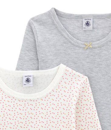 Duo de tee-shirts manches longues petite fille