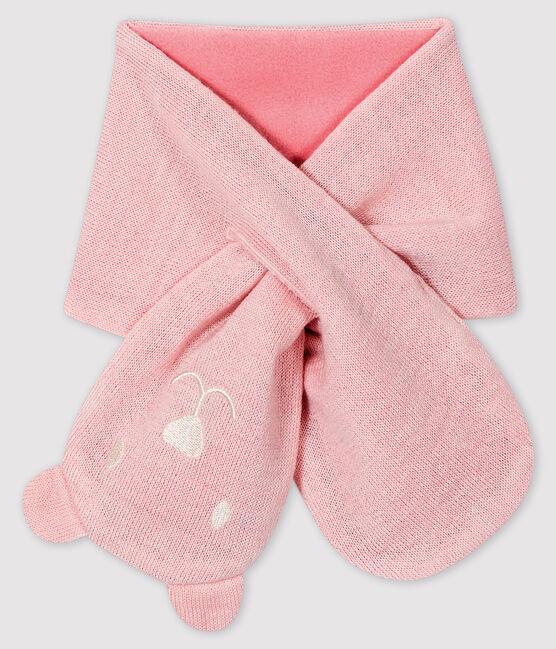Echarpe bébé doublée micropolaire rose Minois