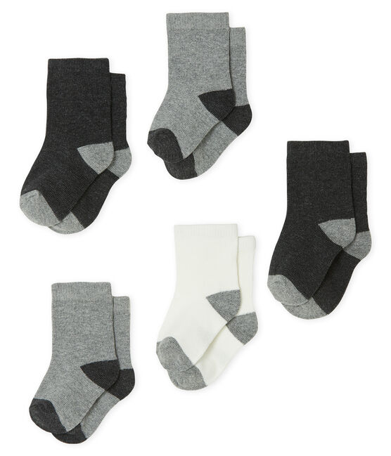 Lot de 5 paires de chaussettes essentielles bébé garçon gris City Chine