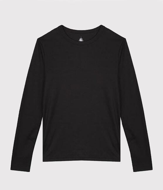 T-shirt coton Sea Island Femme noir Noir