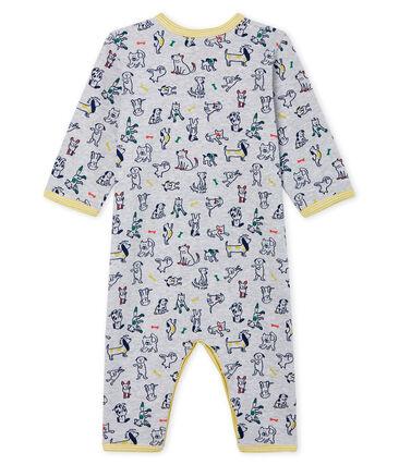Dors bien sans pieds bébé garçon en côte gris Poussiere / blanc Multico Cn