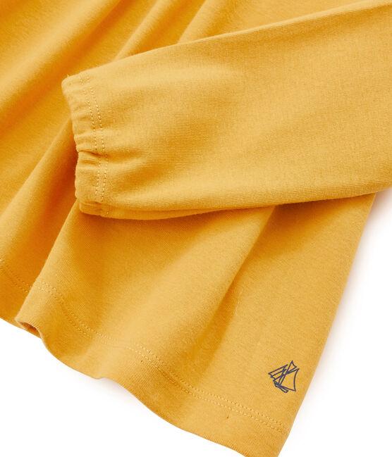 Tee shirt manches longues enfant fille jaune Boudor