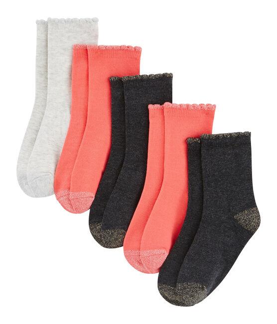 Lot de 5 paires de chaussettes enfant fille lot .