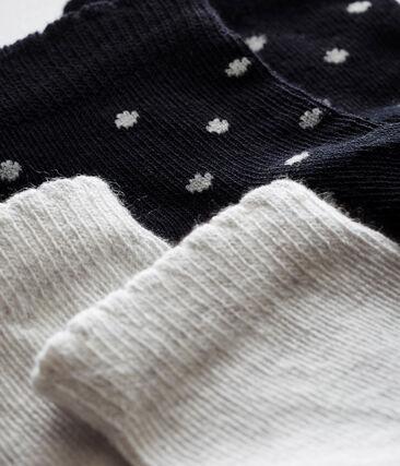 Lot de deux paires de chaussettes bébé fille